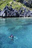el-nido palawan philippines som snorkelling Fotografering för Bildbyråer