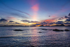 El Nido Palawan Philippines Sunset Royalty Free Stock Photos