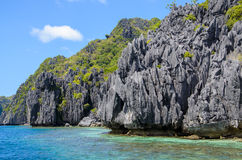 El Nido, Philippines - Cliffs on Tapiutan island. Grey Cliffs on Tapiutan island. El Nido Palawan Philippines Stock Image