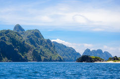 El Nido, Philippines - Tapiutan and Matinloc island. Tapiutan and Matinloc island. El Nido Palawan Philippines Royalty Free Stock Photo