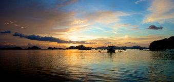 El Nido Sunset Stock Photo