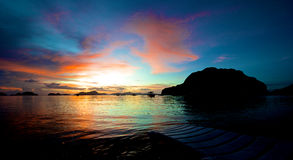 El Nido Sunset Royalty Free Stock Photo