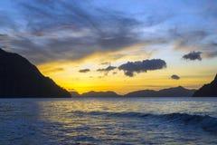 El Nido Sunset Philippines Royalty Free Stock Image