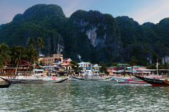 El Nido Town, Philippines, at dusk Stock Photography