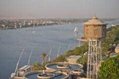 El Nilo en Luxor, Egipto Fotos de archivo libres de regalías