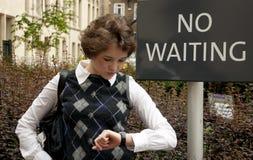 El ningún esperar Foto de archivo libre de regalías