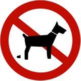 El ningún pooping de los perros permitido Fotos de archivo