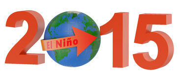 El nino 2015 concept. Isolated on white background Royalty Free Stock Photos