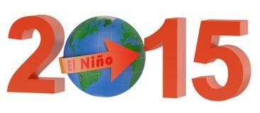 El nino 2015 concept. Isolated on white background Royalty Free Stock Photos