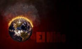 El Nino Global Warming Illustration Stock Photography
