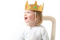 El niño es rey Imágenes de archivo libres de regalías