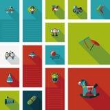 El niño juega el fondo plano del ui, eps10 Fotografía de archivo libre de regalías