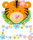 El nombre de la etiqueta del tigre embroma 02 ilustración del vector