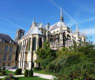 El Notre Dame de Reims Imágenes de archivo libres de regalías