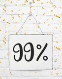 El noventa y nueve por ciento del 99% del oro negro del descuento de la venta el 99% de viernes libre illustration