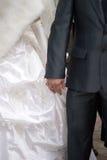 El novio y la novia Foto de archivo
