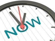 El Now es el tiempo Imagen de archivo