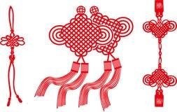 El nudo chino de vectores Foto de archivo libre de regalías