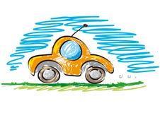 El nuevo coche ayuna Foto de archivo libre de regalías