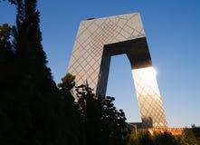 El nuevo edificio de oficinas de CCTV 2 Fotografía de archivo libre de regalías