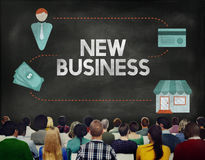 El nuevo negocio comienza para arriba el concepto de Vision de las ideas frescas Foto de archivo