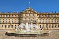 El nuevo palacio, en Stuttgart, Alemania Foto de archivo