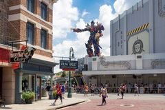 El nuevo paseo de los transformadores 3D en los estudios universales la Florida Imagen de archivo
