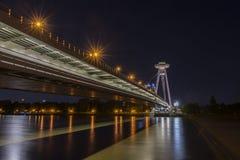 El nuevo puente en Bratislava Fotos de archivo