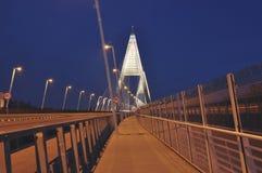 El nuevo puente llamó Megyeri en Budapet Fotografía de archivo