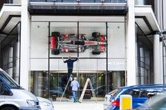 El nuevo salón de muestras de McLaren en Londres Imagenes de archivo