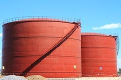 El nuevo tanque de almacenamiento químico imagen de archivo