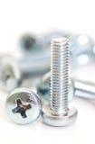 El nuevo tornillo de metal Fotografía de archivo libre de regalías