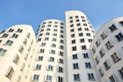 El nuevo Zollhof Düsseldorf, Alemania - 13 de agosto de 2015 Imagen de archivo
