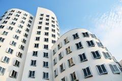 El nuevo Zollhof Düsseldorf, Alemania - 13 de agosto de 2015 Fotografía de archivo