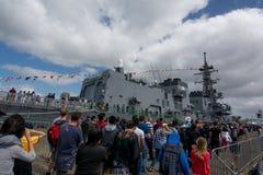 El 75.o aniversario de la fundación de la marina de guerra de Nueva Zelanda Imagen de archivo libre de regalías