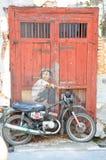 el 2.o doler del motorista en la bici real 3D Fotos de archivo