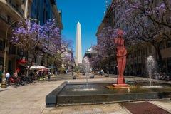 方尖碑(El Obelisco) 图库摄影