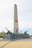 El obelisco de Slava en la montaña Mitridat en Kerch Fotos de archivo libres de regalías