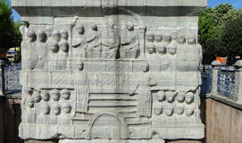 El obelisco de Theodosius en el hipódromo Foto de archivo