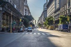 El obelisco (EL Obelisco) en Buenos Aires imagen de archivo
