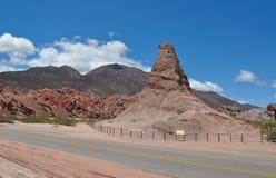 El Obelisco - rock formation. Quebrada de las Conchas. Royalty Free Stock Photos