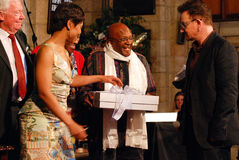 El obispo Emeritus Desmond Tutu del arco Imagen de archivo