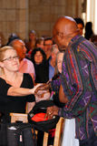 El obispo Emeritus Desmond Tutu del arco Foto de archivo