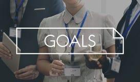 El objetivo de la aspiración de las metas sueña concepto de la esperanza de la expectativa fotografía de archivo