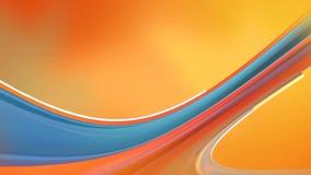El objeto animado de la curva se mueve en rana amarilla roja libre illustration