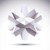 el objeto geométrico poligonal 3D, vector el elemento abstracto del diseño, c Foto de archivo