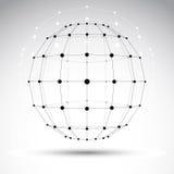 El objeto poligonal del wireframe de la papiroflexia abstracta 3D, vector geométrico Fotos de archivo