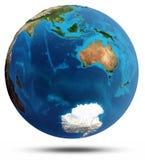 El Océano Índico y alivio real y agua de Australia Fotos de archivo libres de regalías