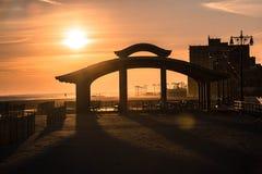 El océano en Coney Island, Brooklyn Foto de archivo libre de regalías