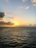 El océano Sunset Imágenes de archivo libres de regalías